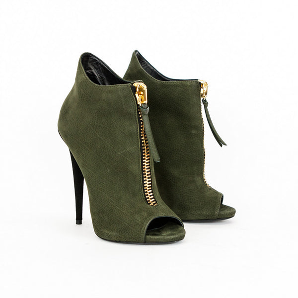 Giuseppe olive green high heel ankle booties size 7