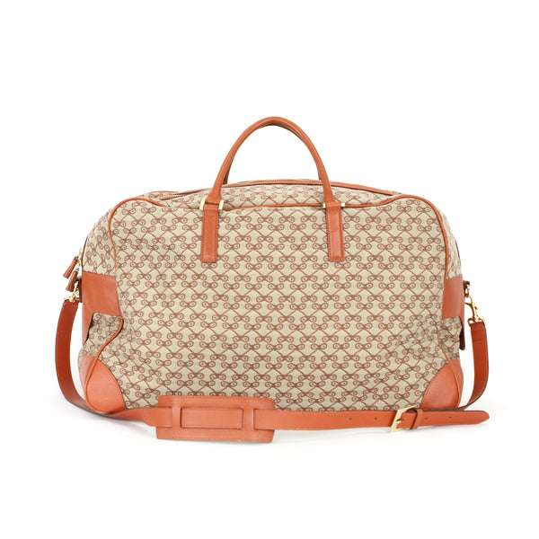 Anya Hindmarch beige and orange duffel bag