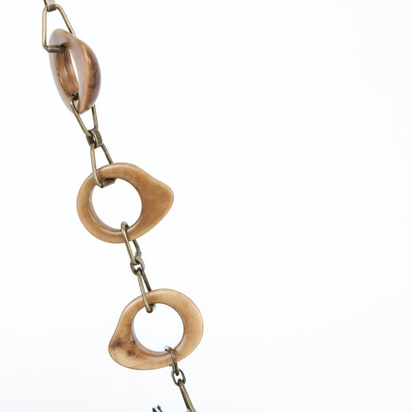 Optional Wooden Chain with Gold Hardware