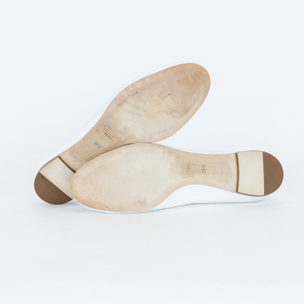 Chloe white Lauren leather flats soft leather soles