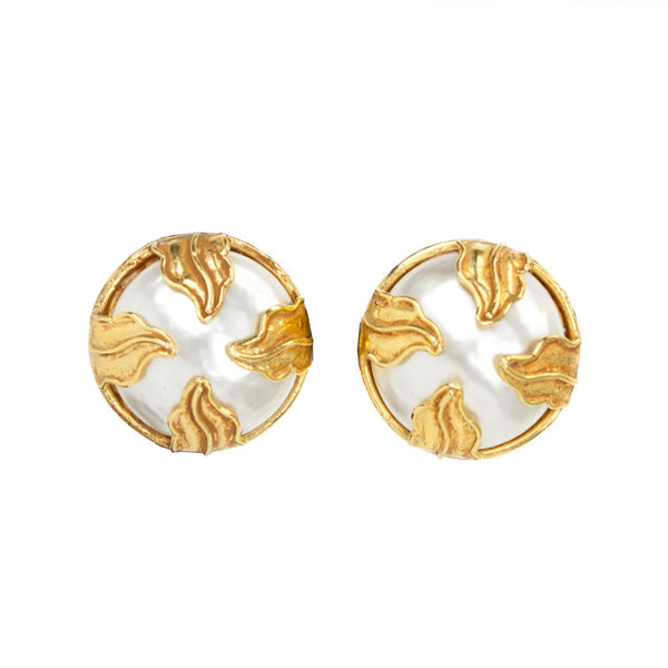 Dominique Aurientis | Mabe Pearl Clip On Earrings