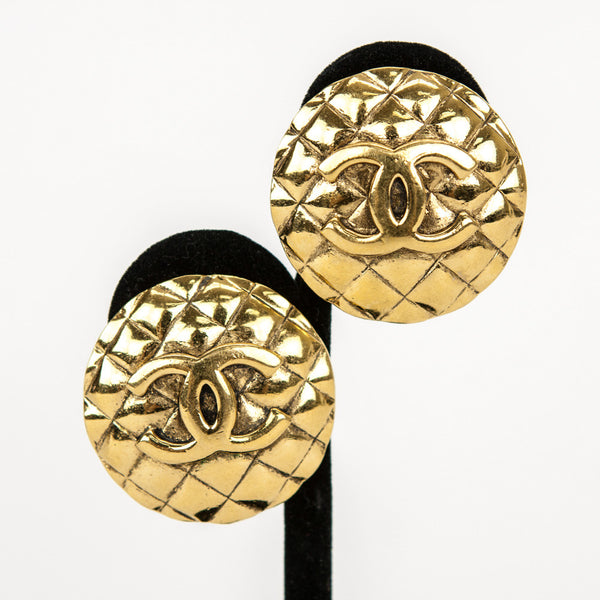 Chanel | Gold-Tone Clip On Earrings