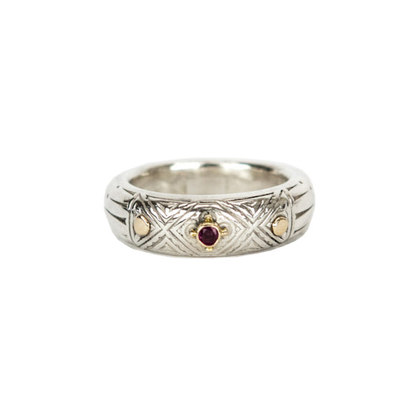 Sterling Silver and Rhodolite Ring