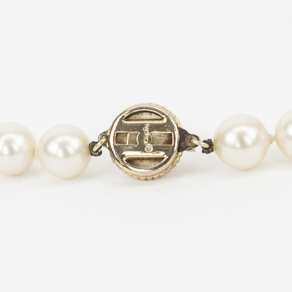 Majorica stamped gold tone clasp