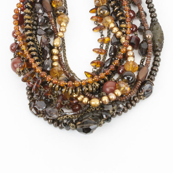 Stephen Dweck multi strand gemstone necklace