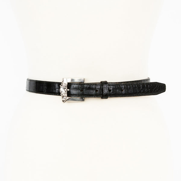 Kieselstein Cord alligator belt with silver buckle