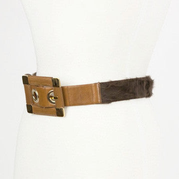 Dolce Gabbana Belt With Gold Hardware