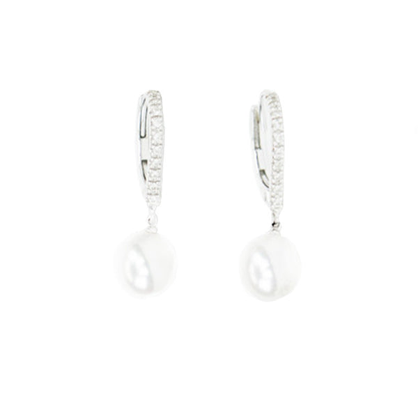Mikimoto | Diamond And Akoya Pearl Earrings