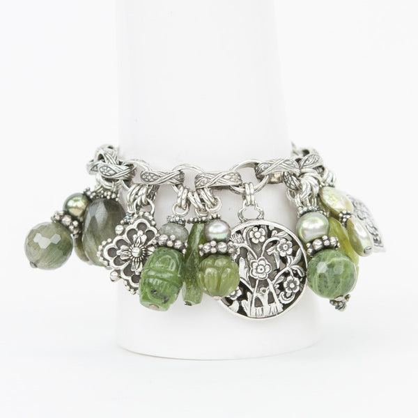 Stephen Dweck one of a kind bracelet with gemstones and charms