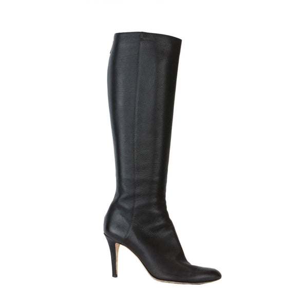 Jimmy Choo | Dark Brown Leather High Heel Boots