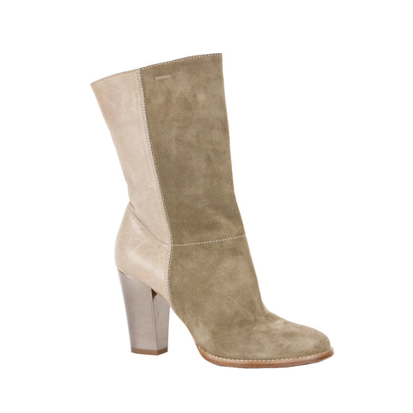 Jimmy Choo | Taupe Music Suede High Heel Booties