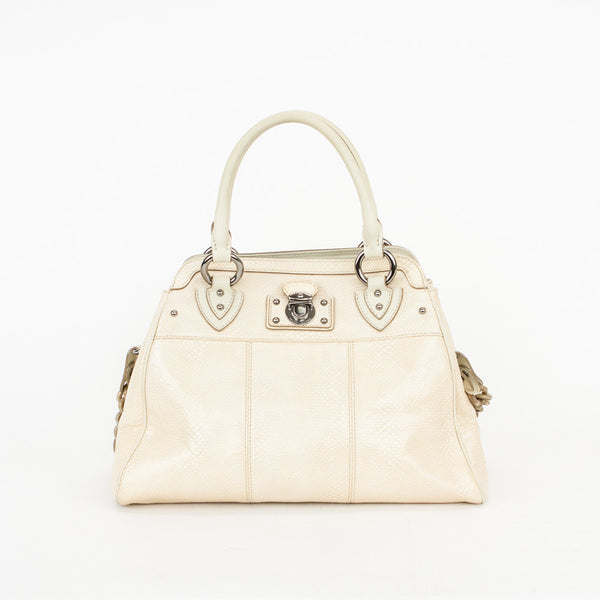 Marc Jacobs cream embossed leather handbag