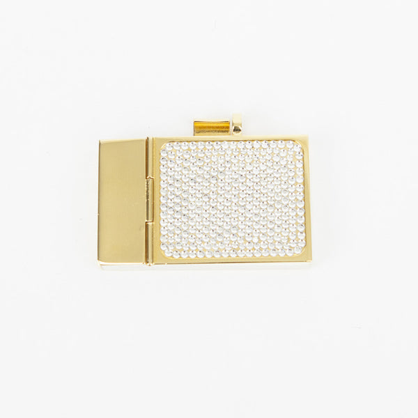 Judith Leiber mini crystal notepad included