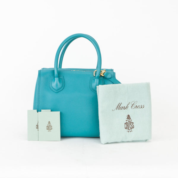 Mark Cross Teal Madison Mini Doctor Bag with dust bag