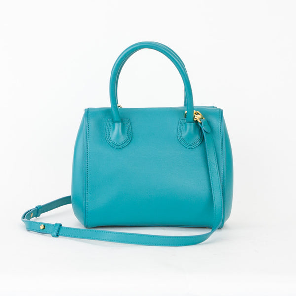 Mark Cross Teal Madison Mini Doctor Bag