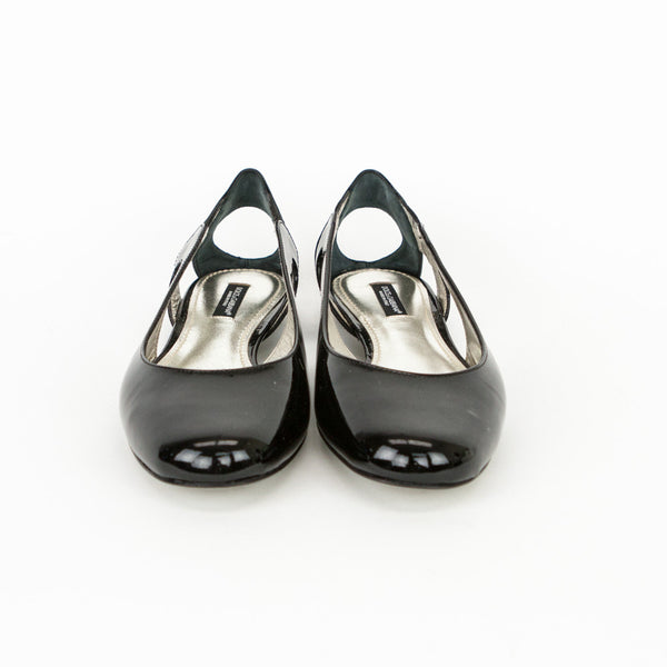 Dolce & Gabbana black patent leather flats made in Italy