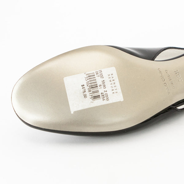 Dolce & Gabbana black patent leather flats original tag attached