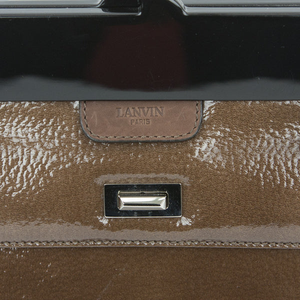 Lanvin | Black And Brown Panel Handbag