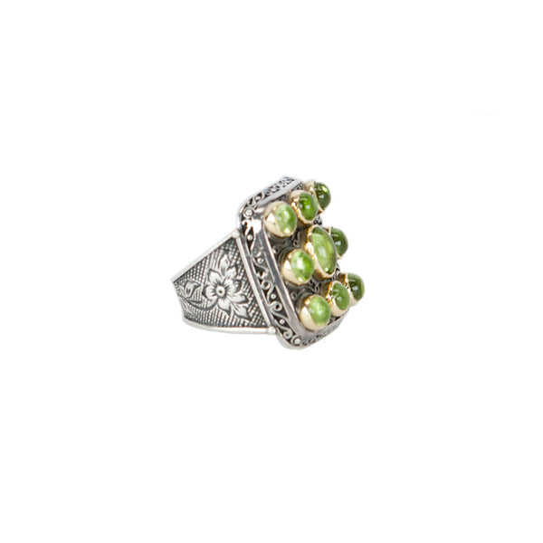 Konstantino | Silver and Peridot Ring