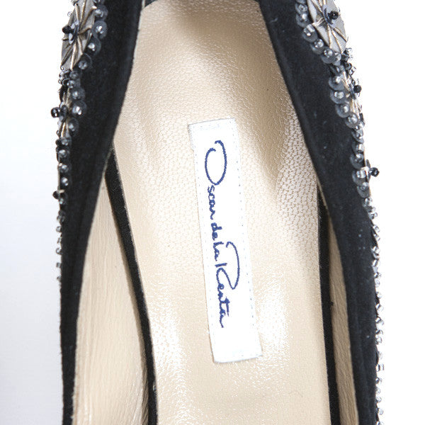 Oscar De La Renta Mid Heel Tag On Insoles