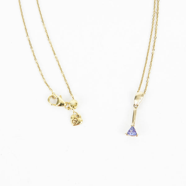 Asher 14k Gold Necklace With Tanzanite