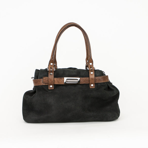 Lanvin black and brown leather handbag