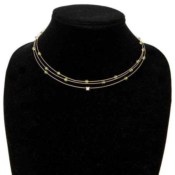 14k Gold Multi Strand Collar Necklace