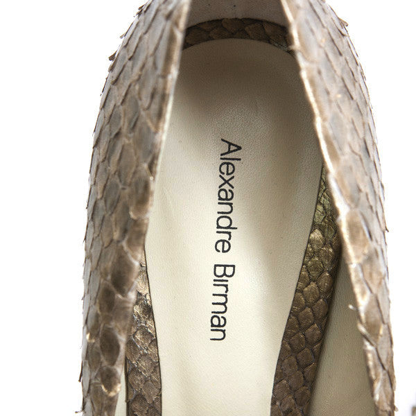 Alexandre Birman Gold High Heel With Leather Insoles