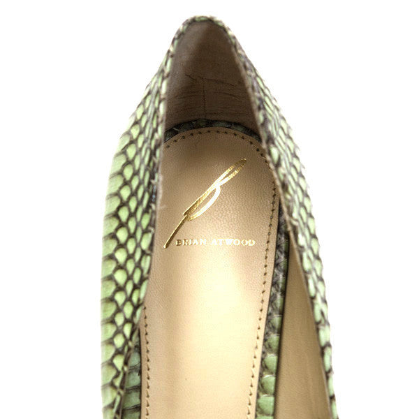 Brian Atwood Gold Designer Emblem on Insoles