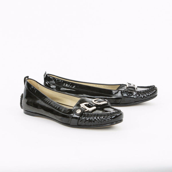 Dolce & Gabbana black patent loafers made in Italy