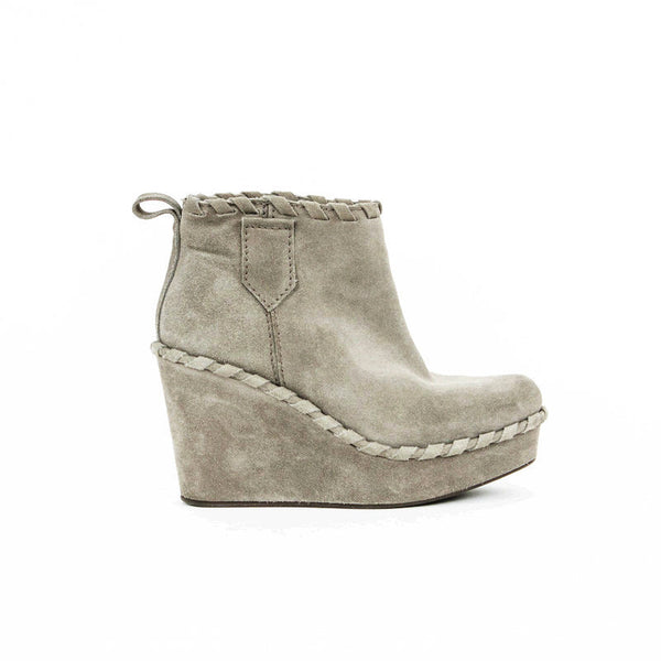 Pedro Garcia gray wedge booties