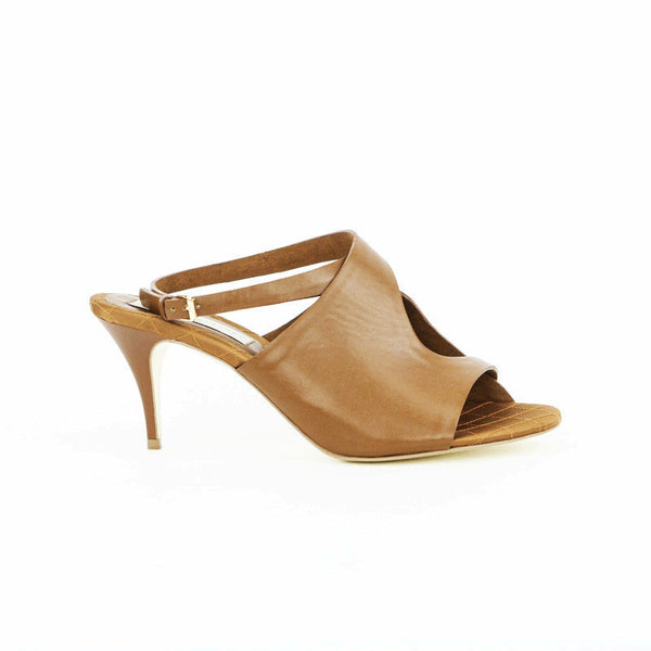 Stella Mccartney light brown leather mid heels