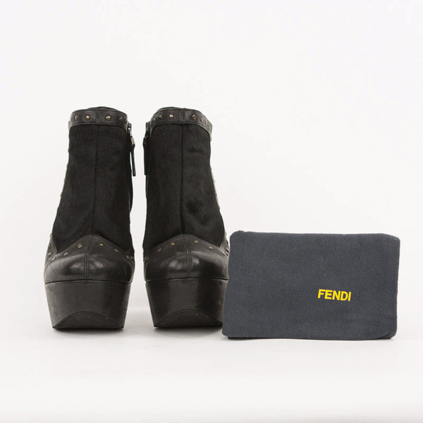Fendi platform booties with dust bag included