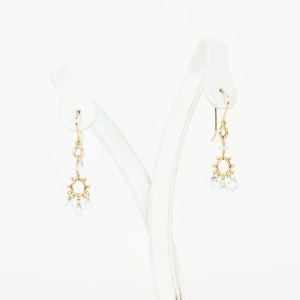 Temple St. Clair 18K gold chandelier earrings
