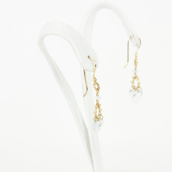 Temple St. Clair 18K gold chandelier earrings with fish hook backs