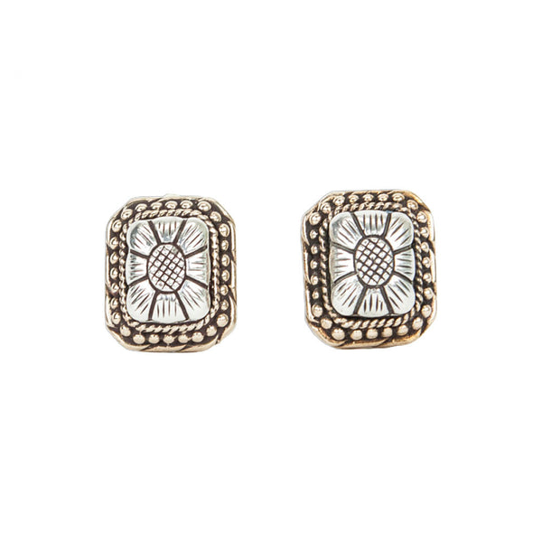 Stephen Dweck | Square Floral Motif Earrings