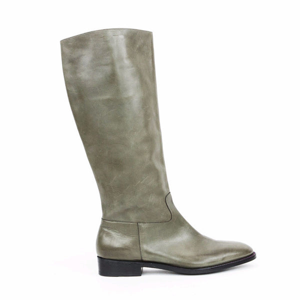 Robert Clergerie taupe gray leather boots