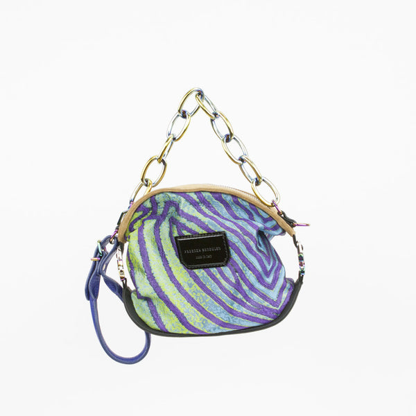 Proenza Schouler fish print jacquard pochette with chain handle