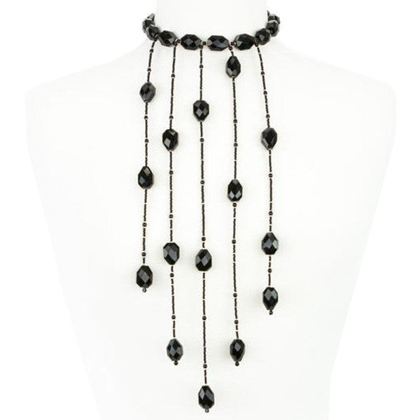 Giorgio Armani | Faceted Black Bead Necklace