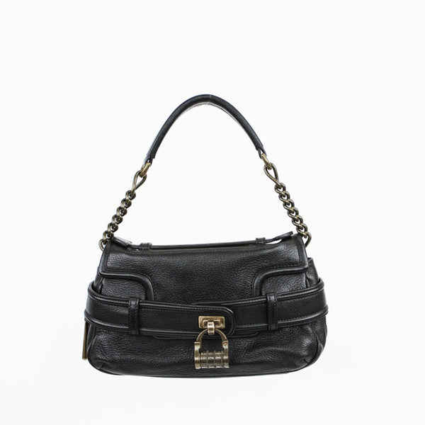Derek Lam | Black Leather Baguette Handbag