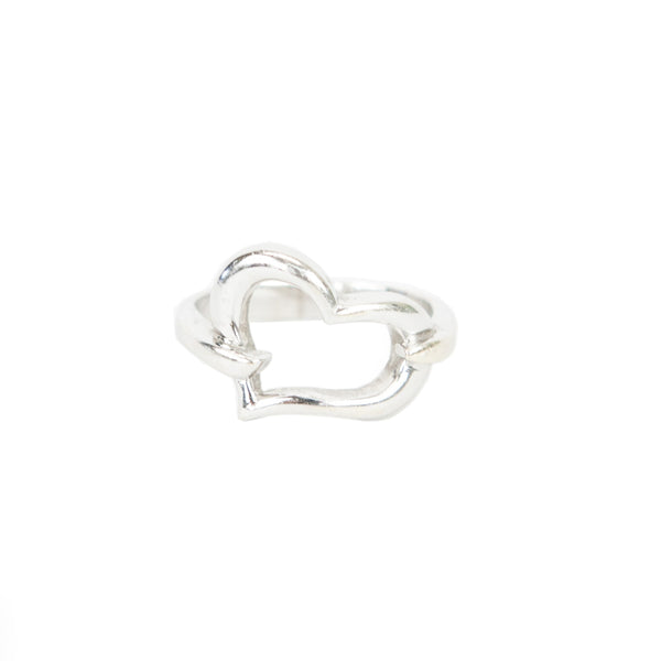 18k White Gold Heart Ring