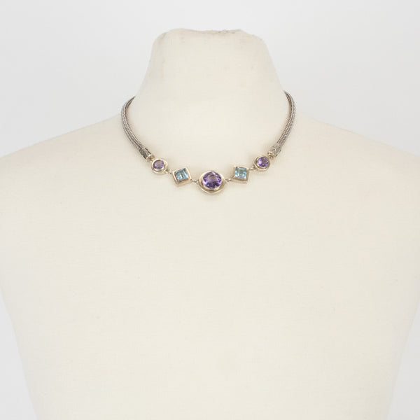 Lori Bonn | Topaz and Amethyst Sterling Silver Necklace