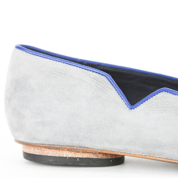 VALAS Los Angeles| Gray Leather Flats