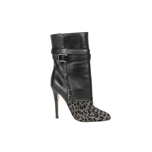 Jimmy Choo | Blaine Leather & Ponyhair Ankle Boots