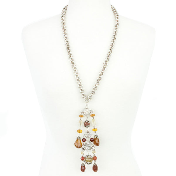 Stephen Dweck | Carnelian & Quartz Necklace