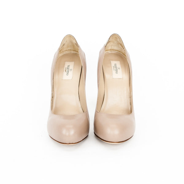 Valentino Beige Leather Pumps, Size 10