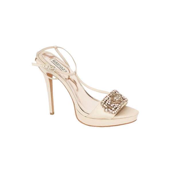 Badgley Mischka | Jewel Embellished Satin Pumps