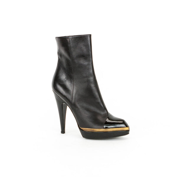 YSL High Heel Black Booties, Size 9