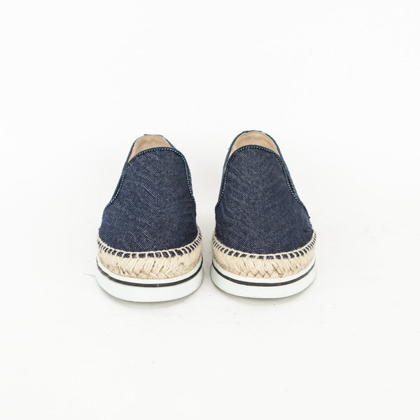 Jimmy Choo Dawn denim slip on sneakers made in Spain
