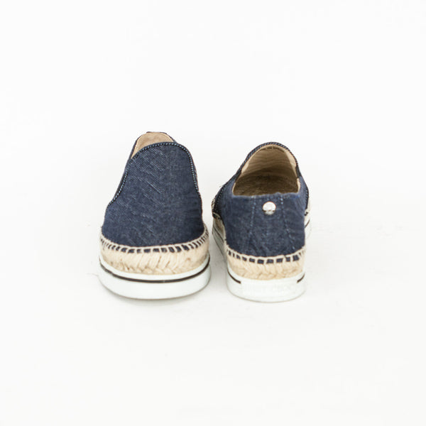 Jimmy Choo Dawn denim slip on sneakers with rivet on the back
